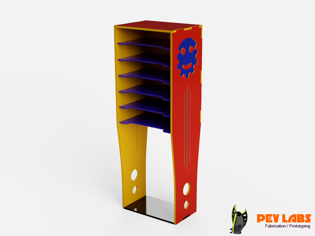 Industrial Design of Prototype Flatpack Parts Organizer