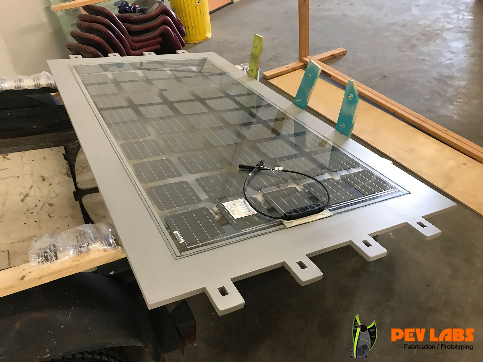 Transparent Solar Panel Kiosk Roof Prototype