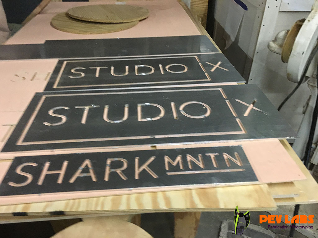 CNC Milled Aluminum Signs