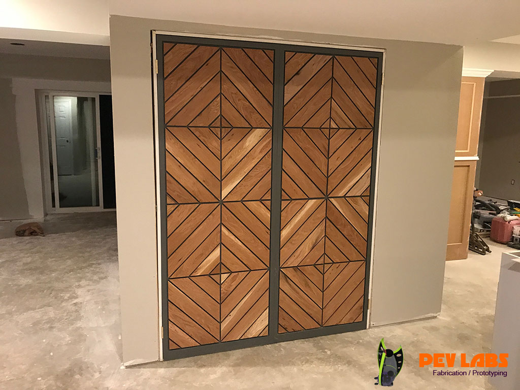 Custom Doors Chevron Pattern