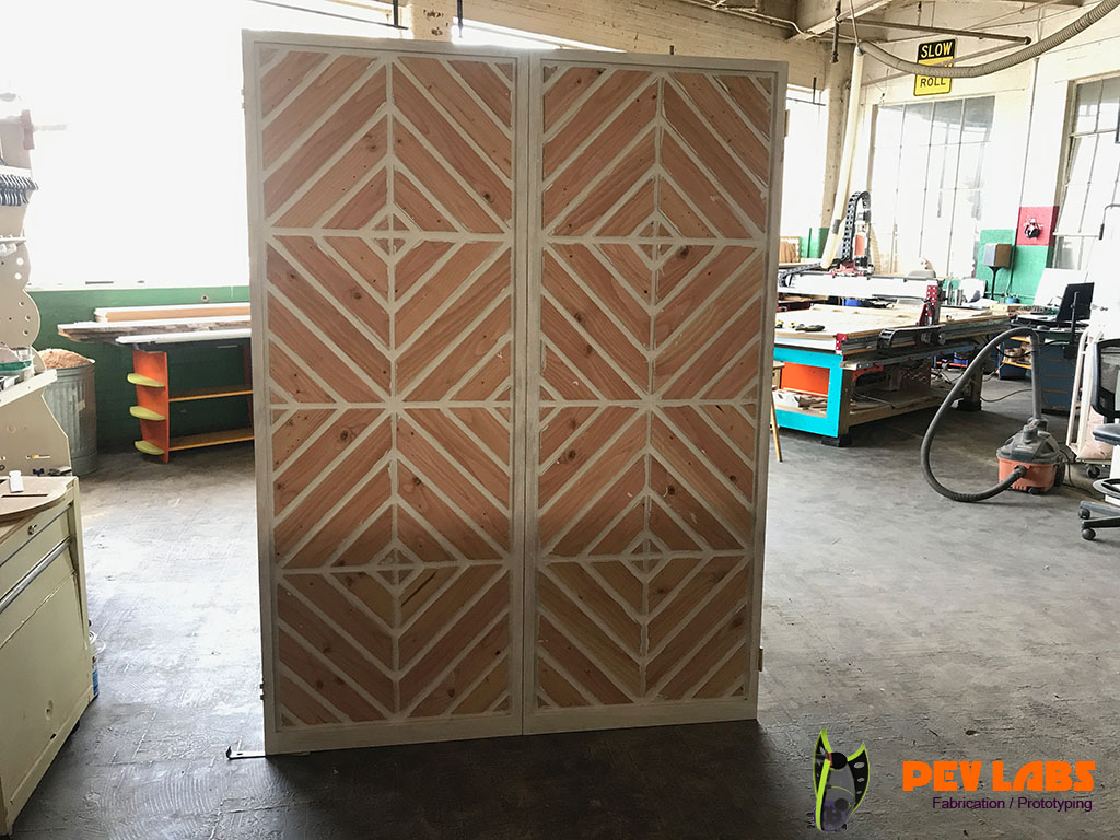 Door Frame with Chevron Pattern Spacers